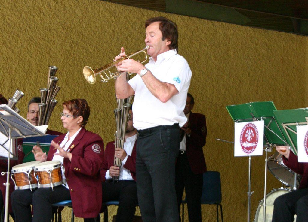 Günter Häußler beim Parkkonzert 2008