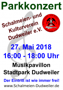 Plakat - Parkkonzert 2018